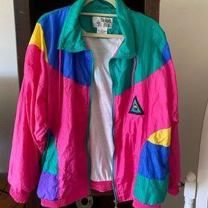 Jackets & Blazers - VTG 80s Color blocked windbreaker